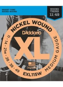 D'Addario D'Addario EXL115W Blues/Jazz Rock w/ Wound 3rd