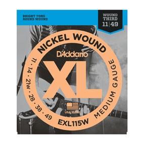 D'Addario D'Addario EXL115W Blues/Jazz Rock w/ Wound 3rd