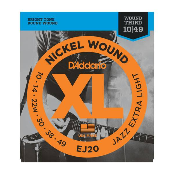 D'Addario D'Addario EJ20 Nickel Wound Jazz Extra Light