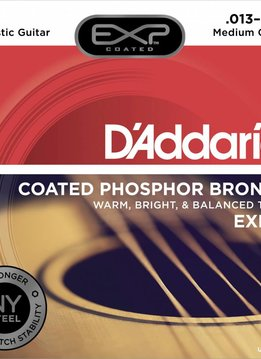 D'Addario D'Addario EXP17 Phos Bronze Coated Acoustic Strings, Medium