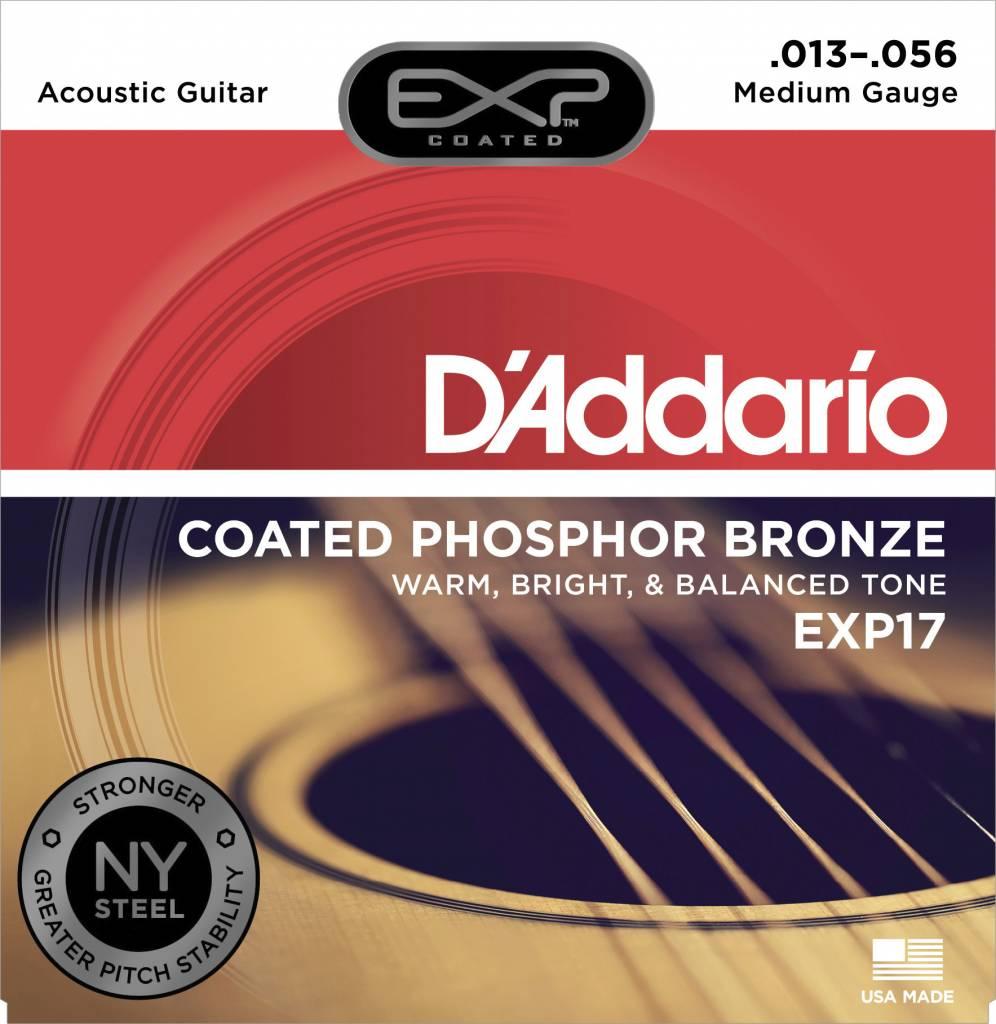 D'Addario D'Addario EXP17 Phos Bronze Coated Acoustic Strings, Medium