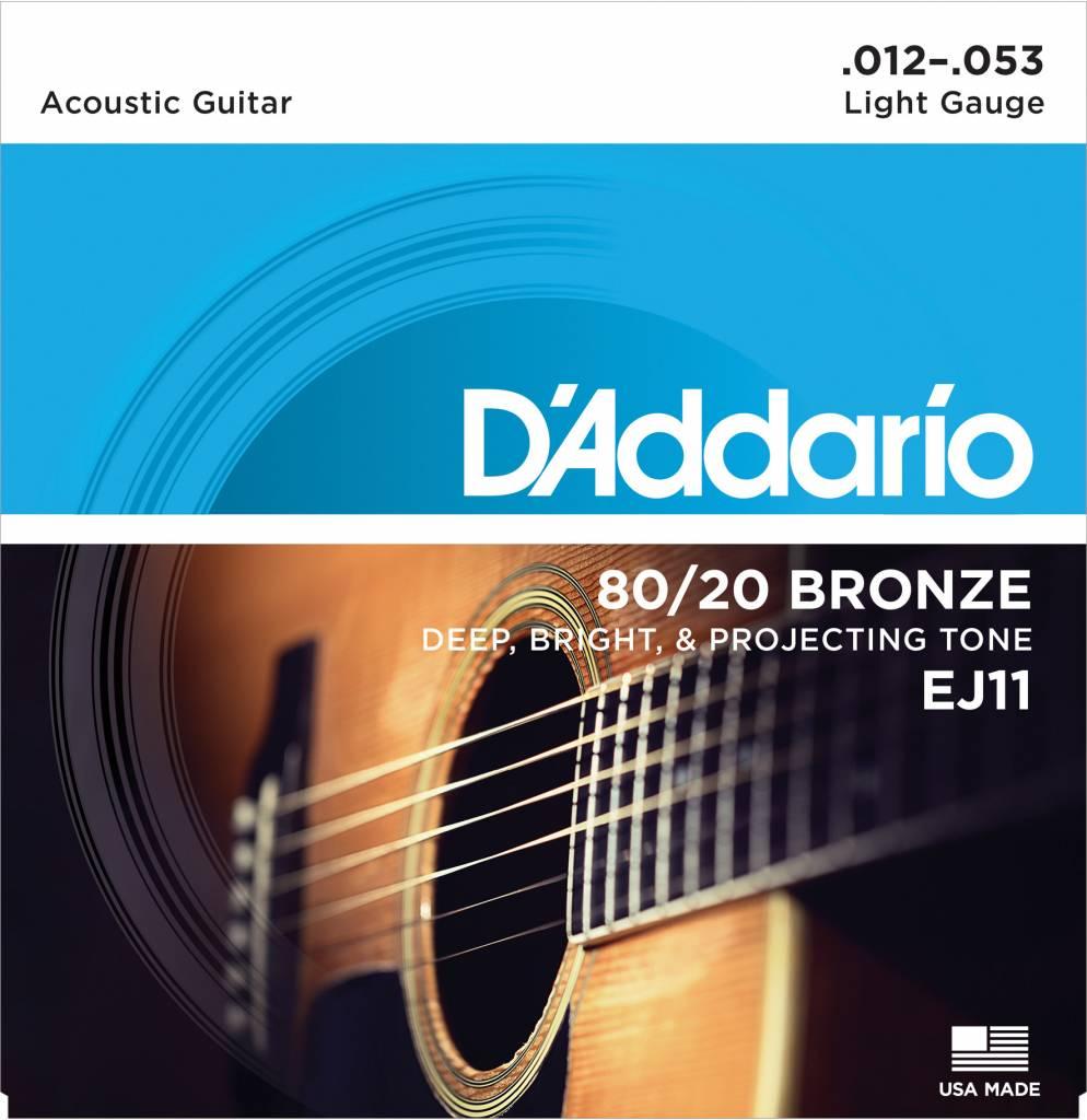 D'Addario D'Addario EJ11 80/20 Bronze Light Gauge