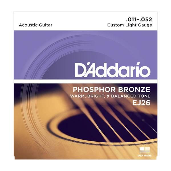D'Addario D'Addario  EJ26 Phosphor Bronze Custom Light