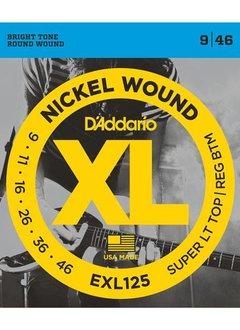 D'Addario D'Addario EXL125 Super Light Top/Regular Bottom 9-46