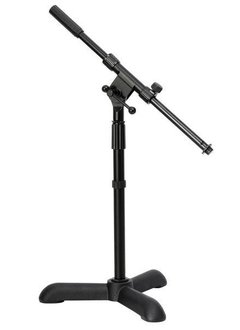 On-Stage On-Stage MS7311B Kick/Amp Boom Mic Stand, Tri-Base- Black