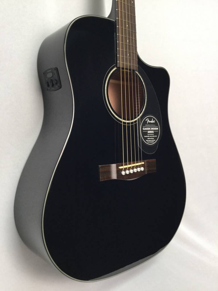 Fender Fender CD-60SCE Acoustic/Electric with Solid Top, Black