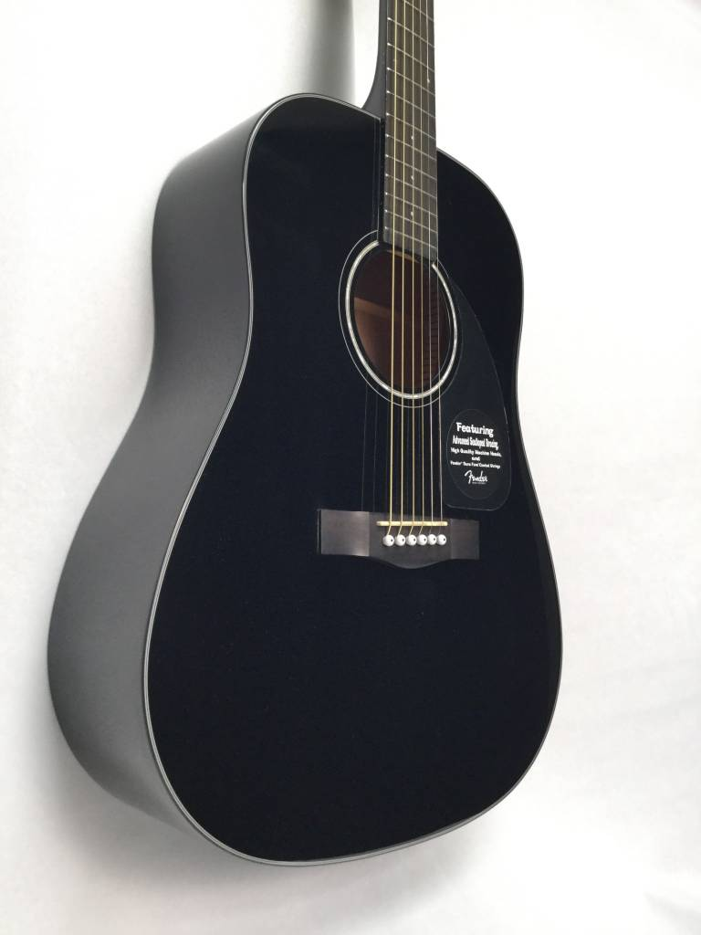 fender fender cd 60 acoustic black without case sims music. Black Bedroom Furniture Sets. Home Design Ideas