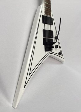 Jackson Jackson Rhoads RRXMG Snow White with Black Pinstripe