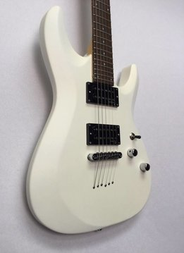 Schecter Schecter C-6 Deluxe Electric Guitar, Satin White