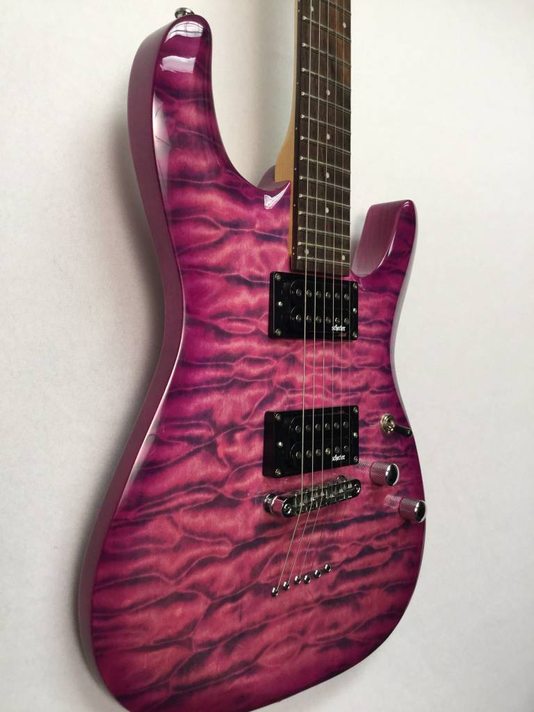 Schecter Schecter C-6 Plus Electric Guitar,  Electric Magenta