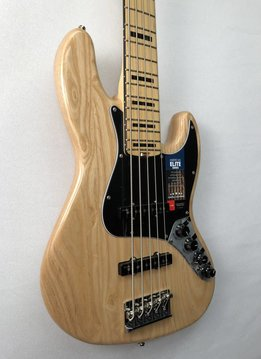 Fender Fender American Elite Jazz Bass® V Ash, Maple Fingerboard, Natural