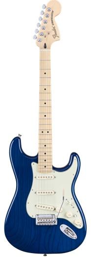 Fender Fender Deluxe Stratocaster®, Maple Fingerboard, Sapphire Blue Transparent