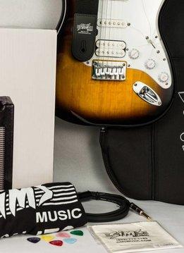 Sims Electric Guitar Package, Sunburst