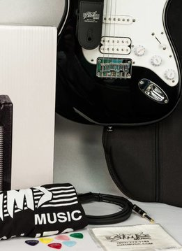 Fender Sims Electric Guitar Package, Black