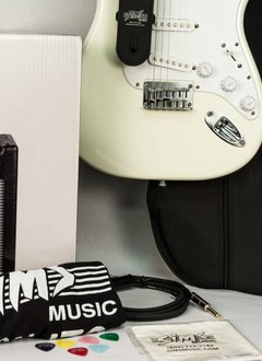 Squier Sims Electric Guitar Package, White