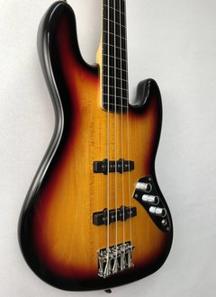 Squier Squier Vintage Modified Jazz Bass® Fretless, Ebony Fingerboard, 3-Color Sunburst