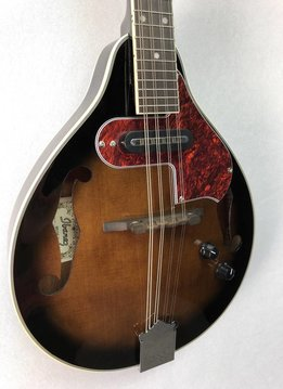 Ibanez M510E A-Style Acoustic/Electric Mandolin, Dark Violin Sunburst High Gloss