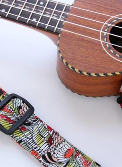 The Hug Strap The Hug Strap for Ukulele - Abstract Featherprint