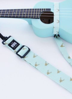 The Hug Strap The Hug Strap for Ukulele - Gold Deer on Mint