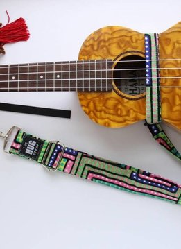 The Hug Strap The Hug Strap for Ukulele - African Dots
