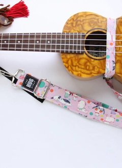The Hug Strap The Hug Strap for Ukulele - Sleepy Dogs on Pink