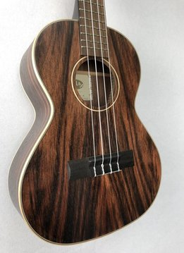 Kala Kala KA-EBY-T Tenor Ukulele, Satin/Striped Ebony