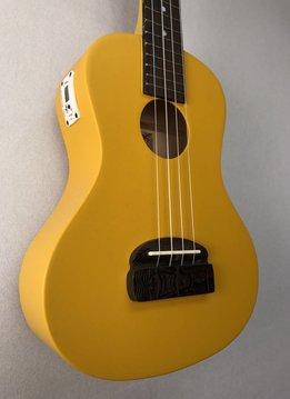 Kohala Kohala Concert Tiki Ukulele, Yellow w/ Tuner