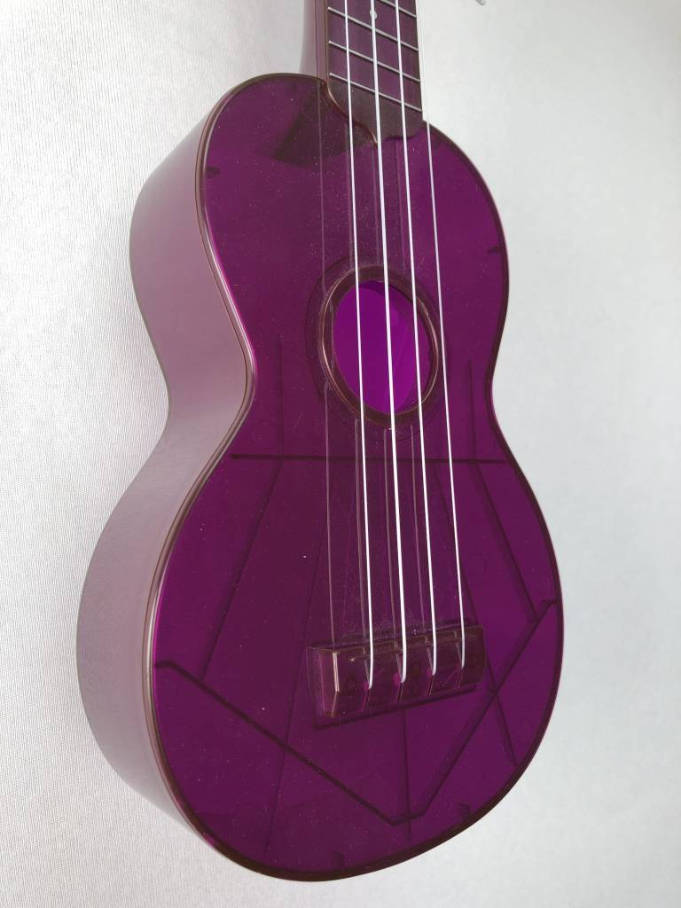Kala Kala Waterman Flourescent Soprano Ukulele, Grape