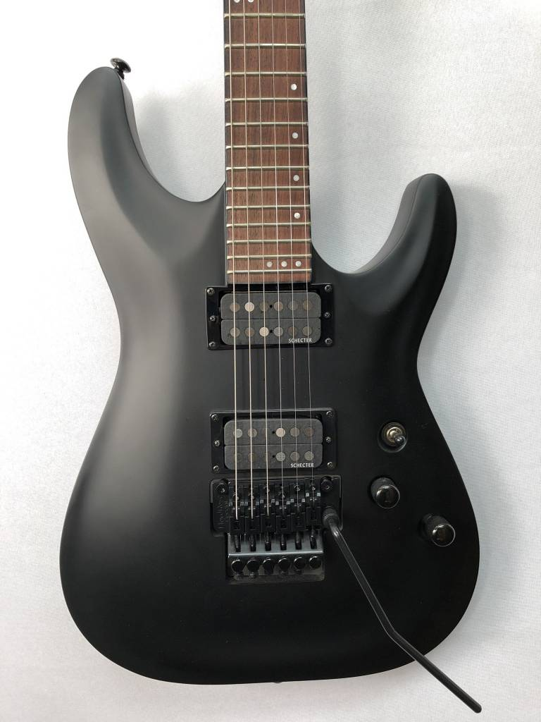 Schecter Schecter Stealth C-1 Electric Guitar With Floyd Rose, Satin Black