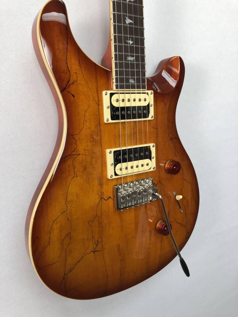 PRS PRS SE CU24 Spalted Maple Top, Vintage Sunburst