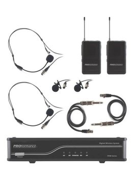 Proformance CAD PROformance PDW-LHG AA Dual Wireless System, 2 Lav/2 Headset