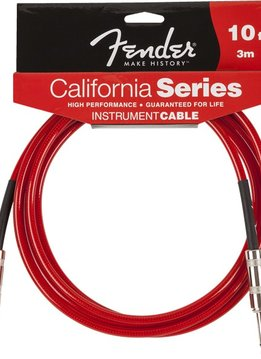 Fender Fender® California Instrument Cable, 10', Candy Apple Red
