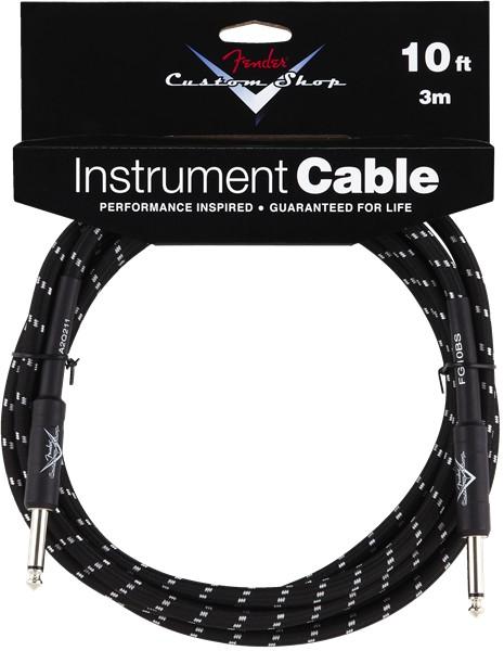 Fender Fender® Custom Shop Cable, 10', Black