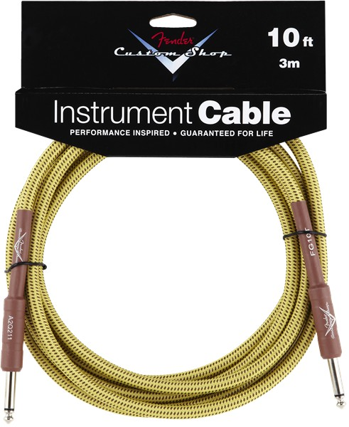 Fender Fender® Custom Shop Cable, 10', Tweed