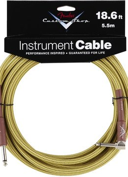 Fender Fender® Custom Shop Cable, 18.6', Tweed, Angled