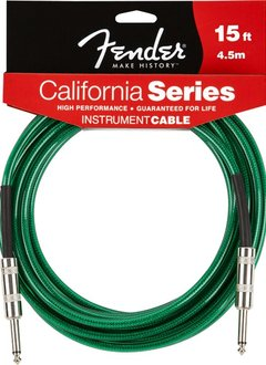 Fender Fender® California Instrument Cable, 15', Surf Green