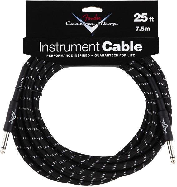 Fender Fender® Custom Shop Cable, 25', Black