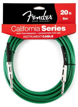Fender Fender® California Instrument Cable, 20', Surf Green