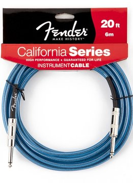 Fender Fender® California Instrument Cable, 20', Lake Placid Blue