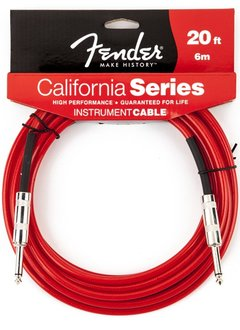 Fender Fender® California Instrument Cable, 20', Candy Apple Red