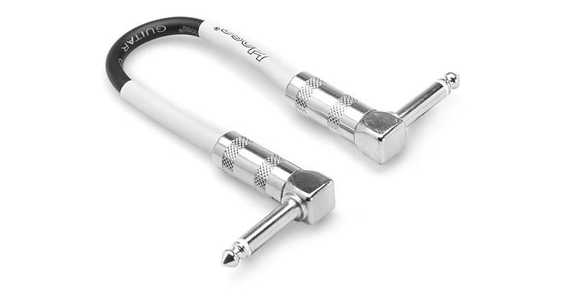 Hosa Hosa CPE-112 Instrument Patch Cable, Right-angle to Same, 12""