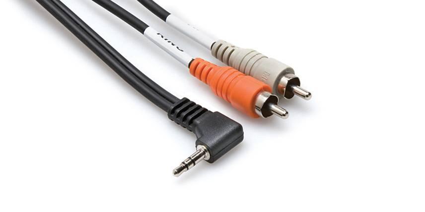 Hosa Hosa CMR-206R Right-angle 3.5 mm TRS to Dual RCA