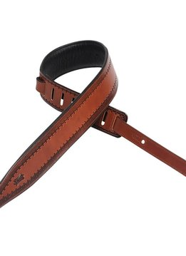 "Levy's Levy's M17T06-BRN 2.5"" Carving Leather Guitar Strap"