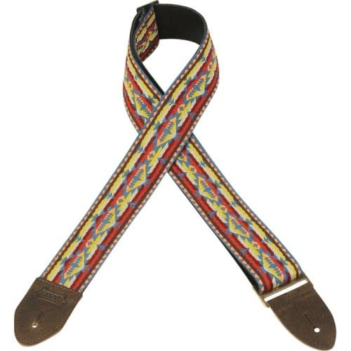 """Levy's Levy's M8HTV-22 2"""" Jacquard Vintage Hooteneanny Guitar Strap"""