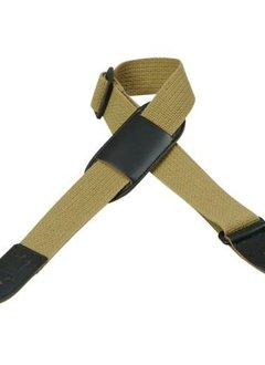 """Levy's Levy's MC8PJ-TAN 1.5"""" Cotton Kids' Strap with Leather Pad, Tan"""