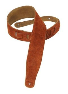 """Levy's Levy's MS26-CPR 2.5"""" Brushed Suede Guitar Strap, Copper"""