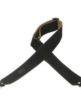 Levy's Levy's M9S-BLK Hand-Brushed Suede Banjo Strap Black
