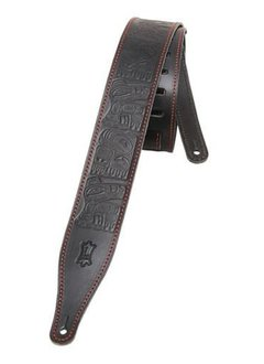 Levy's Levy's M17THG-BLK Veg-Tan Leather Strap, Black
