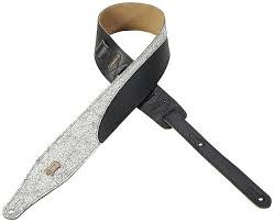 Levy's Levy's MD17DC-WHT 2.5'' Partial Distressed Guitar Strap, White