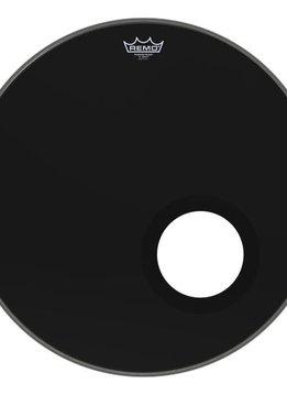 """Remo Remo 22"""" Powerstroke 3 Ebony w/ Dynamo Port"""